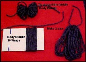 Making yarn bundles.