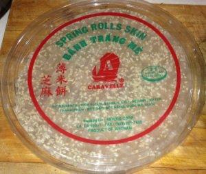 Package of Dried Vietnamese Rice Cracker