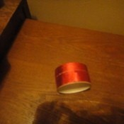 Turn Ribbon Into Tape by using doublestick tape.