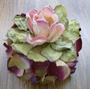 "silk flower ""cake"""