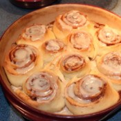Cinnamon Rolls after baking