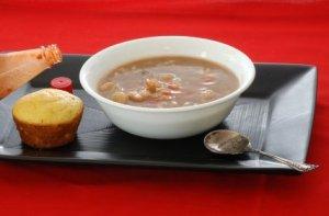 Bowl of seafood gumbo.