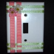 Mother's Day decorated switch plate
