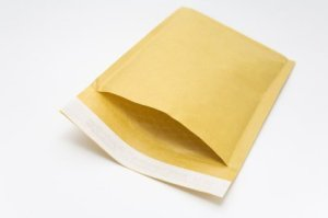 Padded Envelope on White Background