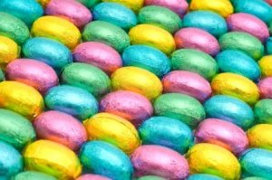 Colorful Candy Easter Eggs