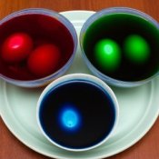Eggs in Colored Dye