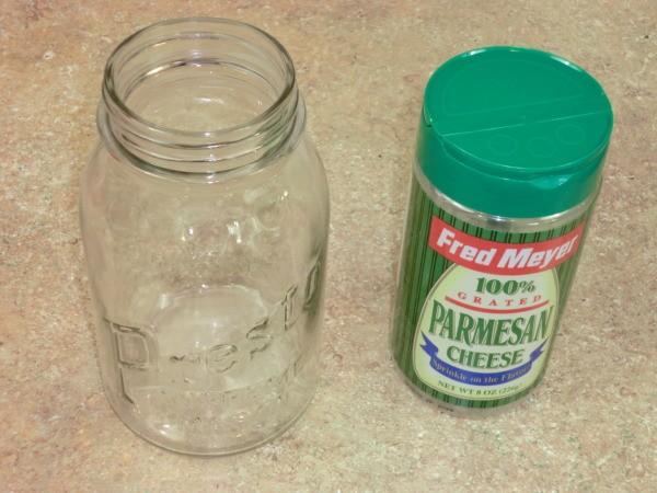 Parmesan Cheese Lid and Mason Jar