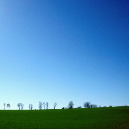 Blue Sky, Green Field (Upstate NY)