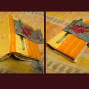 Finished views of the Handcrafted Personal Diary Supplies.