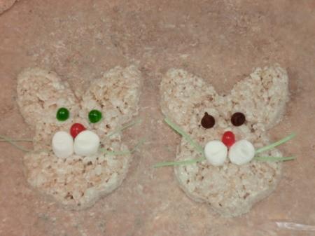 Decorated Rice Krispy Bunnies