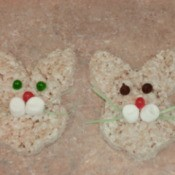 Decorated Rice Krispy Bunnies