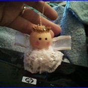 An angel bell ornament.