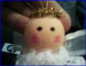 Wooden Bead With Painted Face