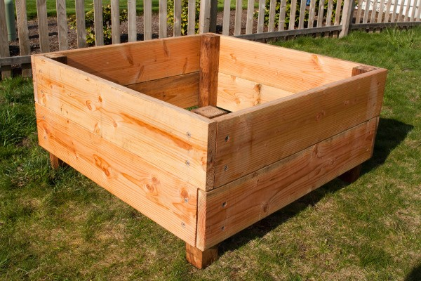 Square Foot Raised Garden Beds - One Completed Garden Bed