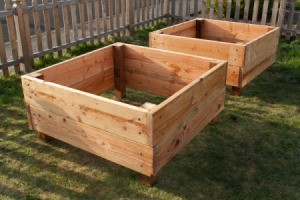 Square Foot Raised Garden Beds - Two Completed Garden Beds