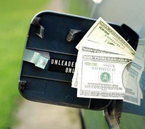 Gas Tank With Cash Stuffed in it