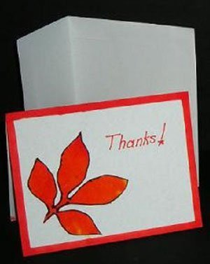 Tie dye thank you note card
