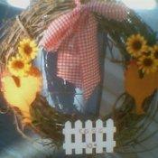 chicken theme wreath