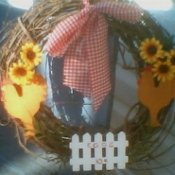 chicken theme wreath