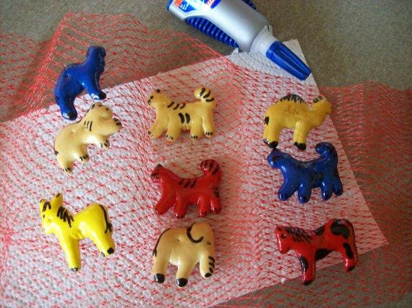 Drying Animal Cracker Crafts