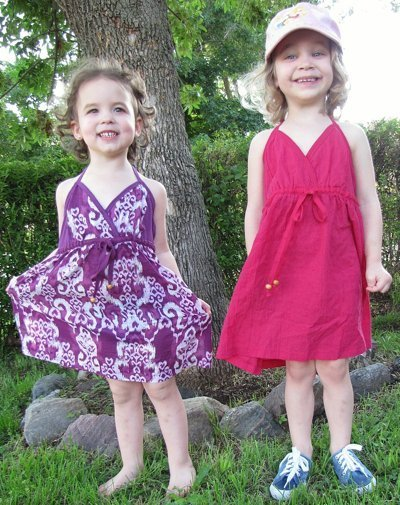 Girls Dresses out of Women's shirts