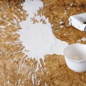 Spilled Milk in kitchen