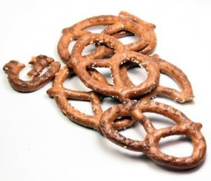 Pretzels on White Background