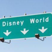 Disneyworld Highway Sign