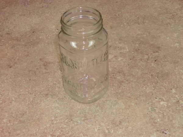 Jar after label removed.