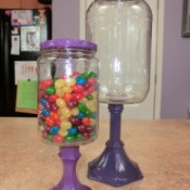 Completed Candy Jars