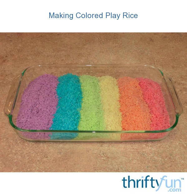 Making Colored Play Rice Thriftyfun