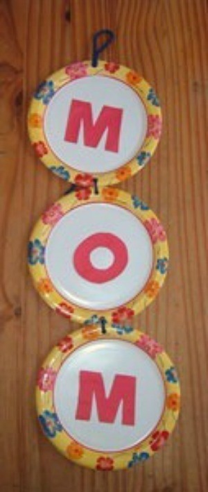 Paper plate Mother's Day craft