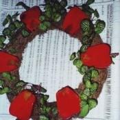 Wooden apple wreath