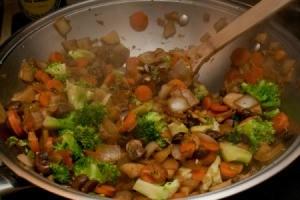 Sunchoke Vegetable Stir Fry In Wok