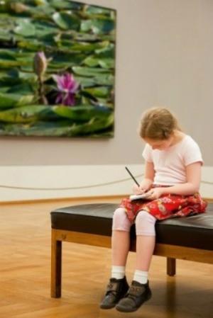 girl at Museum