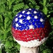 Patriotic garden ball