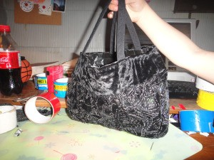 Finished Duct Tape Lined Shirt Purse