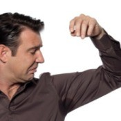 Man With Stain in Underarm