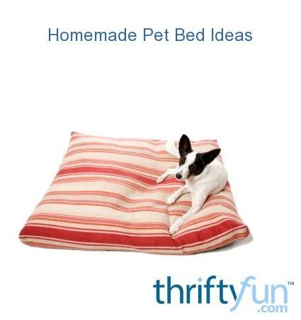 Homemade pet beds thriftyfun for Homemade pet beds