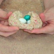 Rice Krispies Easter eggs.