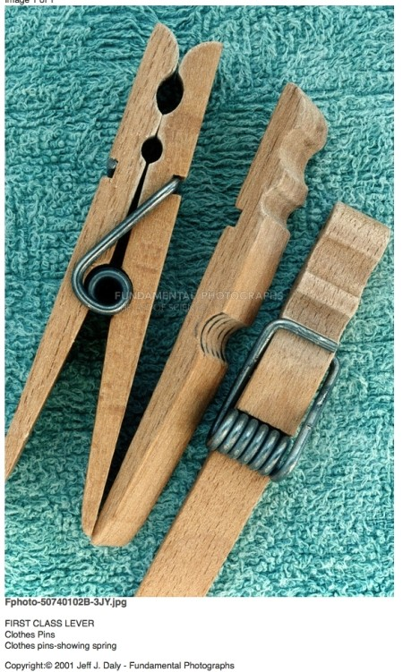 spring style clothes pins