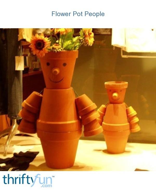 Making flower pot people thriftyfun for Fancy flower pots