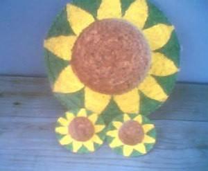 Sunflower hats.