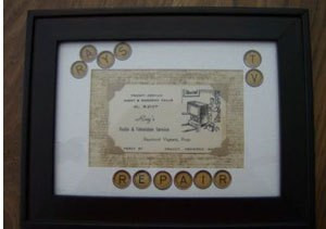 Business Card in Frame