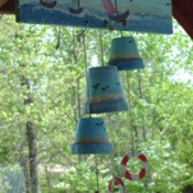 Recycled Clay Pot Wind Chimes