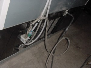 Flushing Refrigerator Water Line