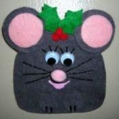 Felt mouse pin.
