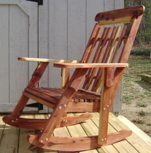 Cedar Rocking Chair for Mom