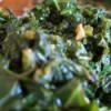 A plate of sauteed kale
