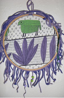 Embroidery Hoop Wall Hanging